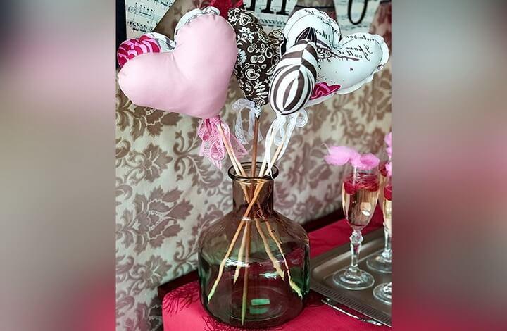 ваза с валентинками