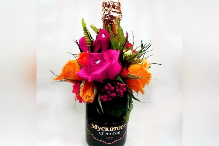 шампанское с цветами