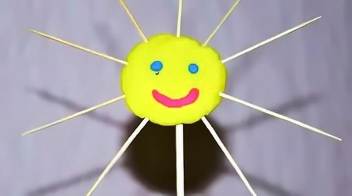 солнце из пластилина