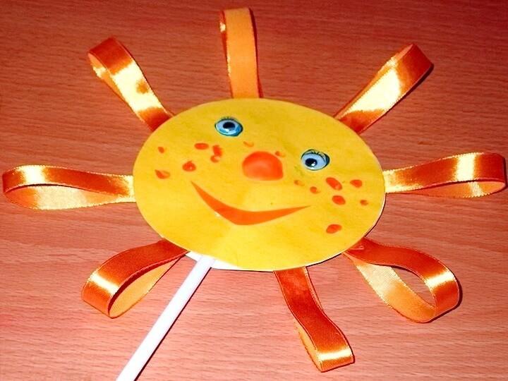 солнце с лентами
