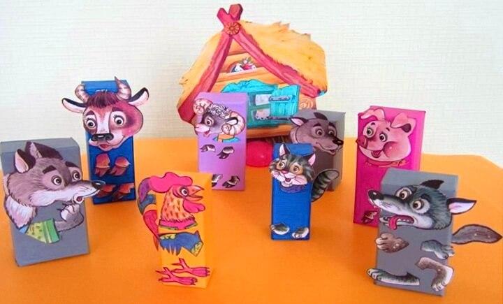 игрушки из коробок от чая