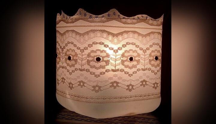 светильник из канистры