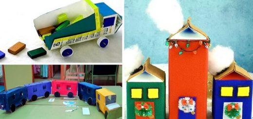 игрушки из коробок от молока