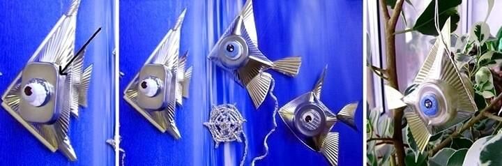 рыбки из конфетных ячеек