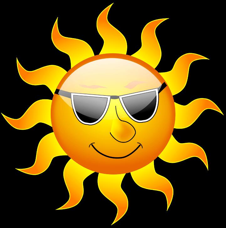 шаблон солнце в очках