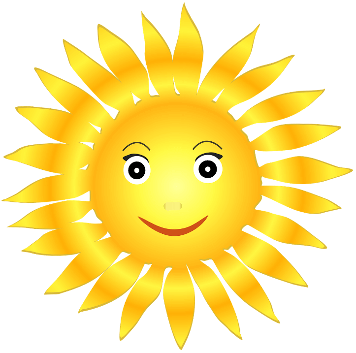 шаблон солнце-смайлик