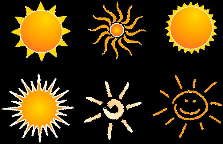шаблон солнышки