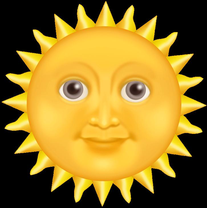 шаблон солнце с лицом