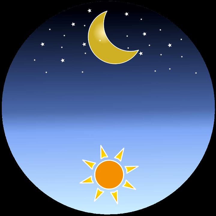 шаблон солнце и луна