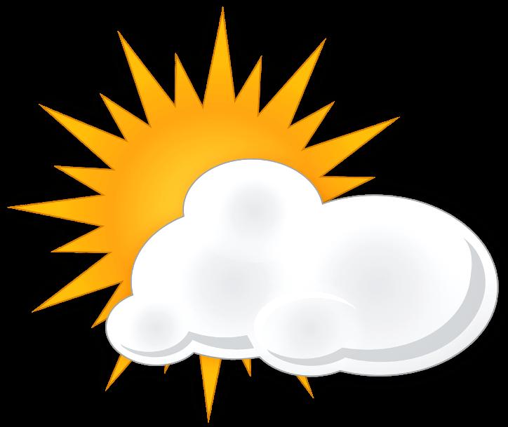 шаблон солнце с облаком
