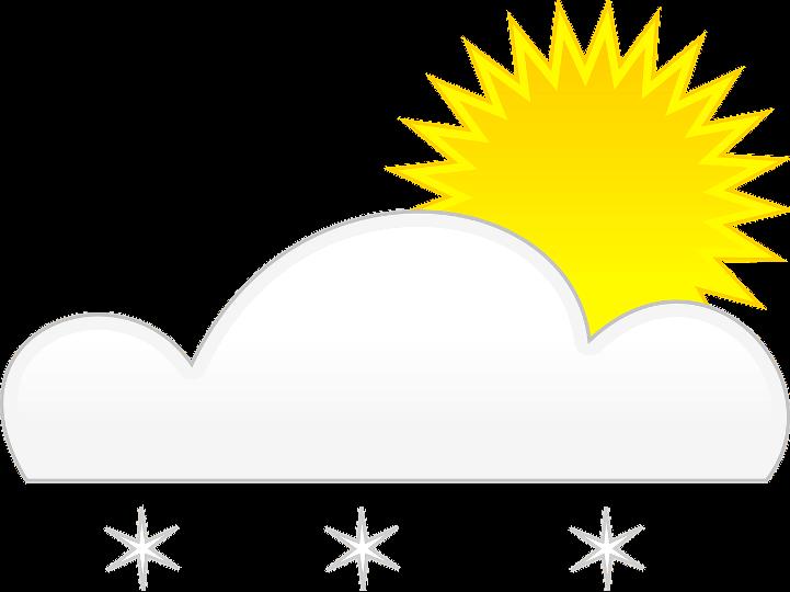 шаблон солнце и снег