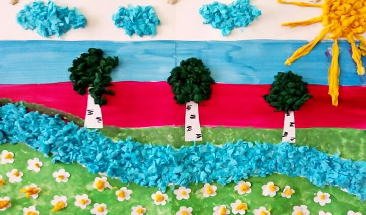 российский флаг поделка