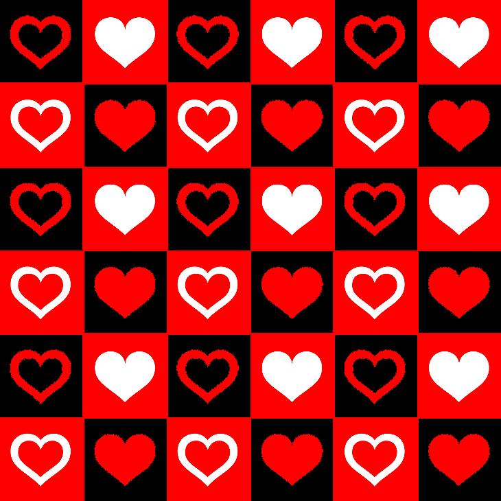 шаблон с сердечками