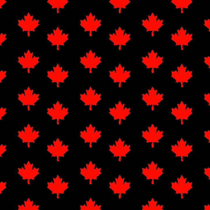 шаблон с кленовым листом