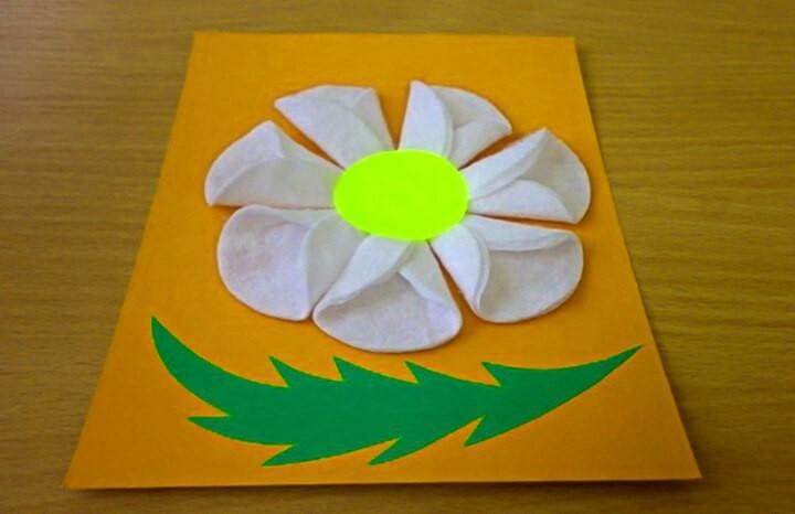 открытка-ромашка