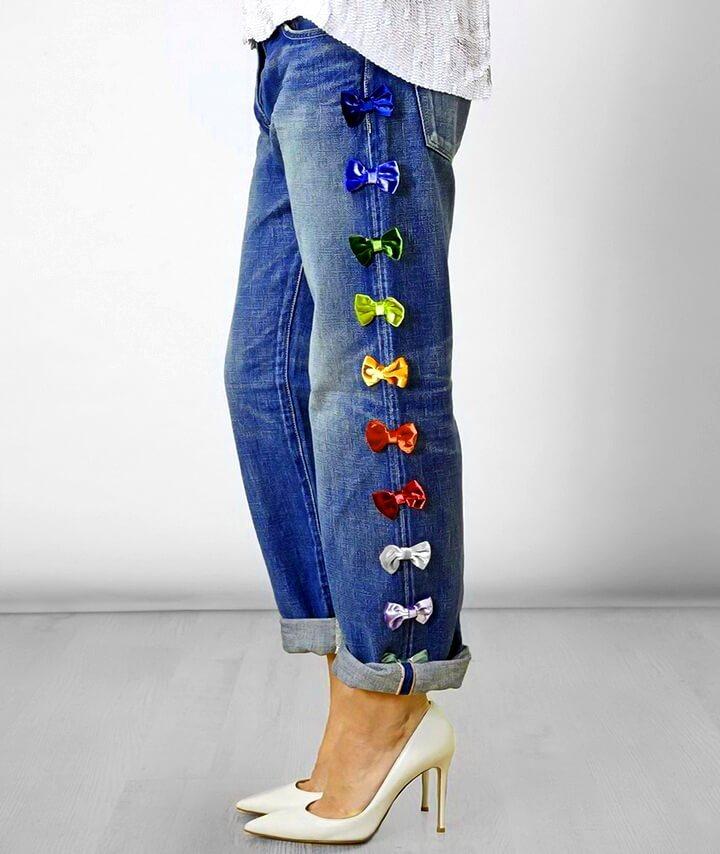 декор шва джинсов