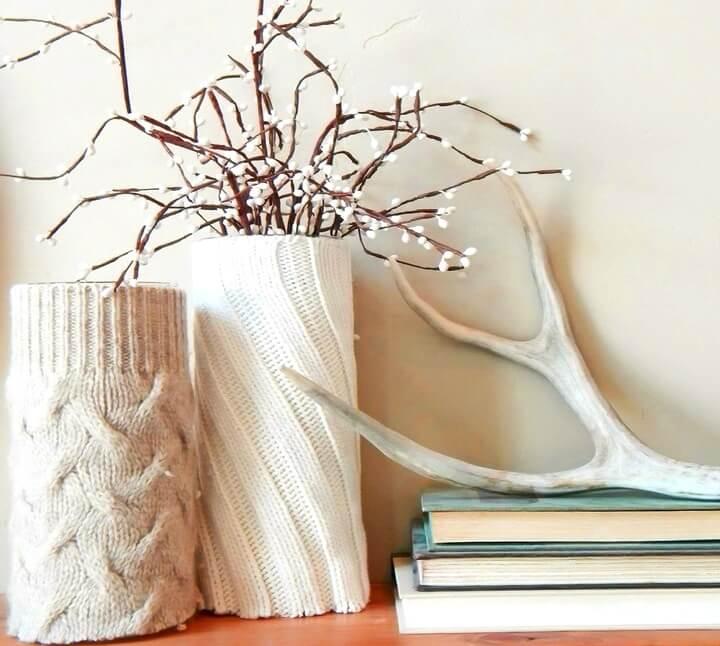 ваза из свитера