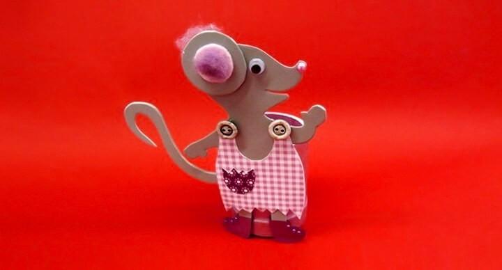 мышь из фоамирана